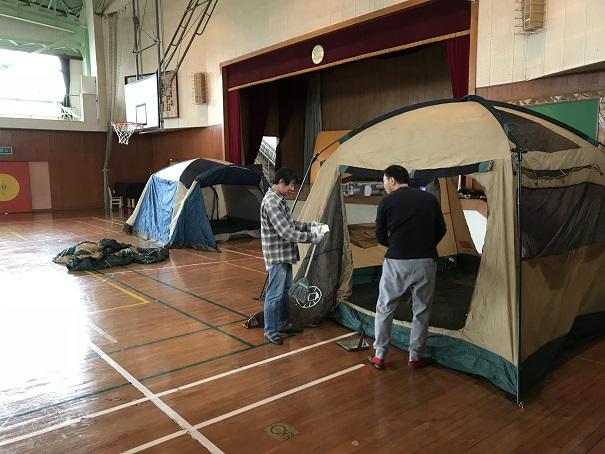 リーダーによるカブキャンプの準備