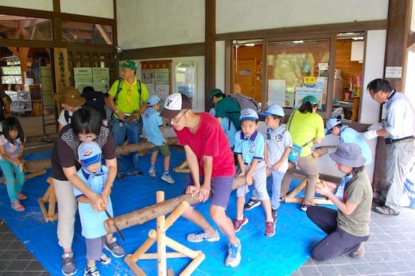 隊集会~森林林業体験学習