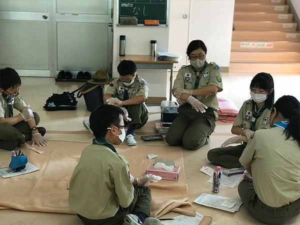 【B面ブログ】ボーイ隊 救急法を学ぶ