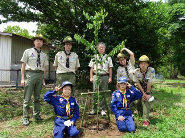 県連70周年企画~アケーラの森キャンプ場植樹